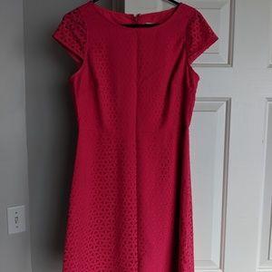 J. Crew laser print cut pink dress